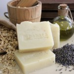 Lavender and Oatmeal Soap handcrafted with love by Babata Handmade Soap
