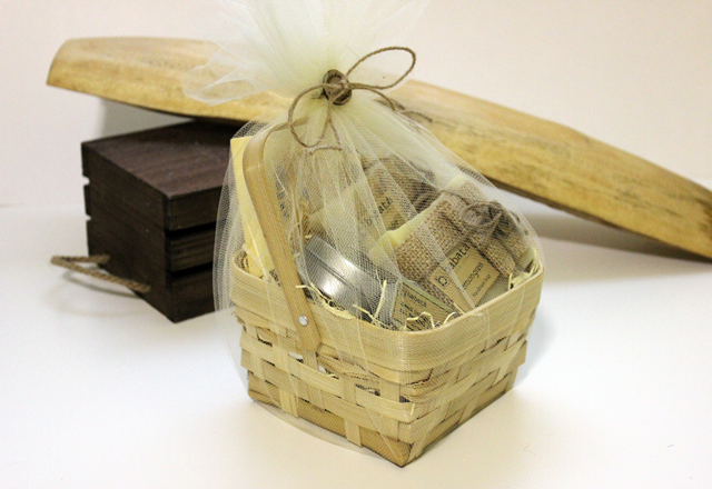 Handmade Soap Baskets : Babata handmade soap gift basket for holidays